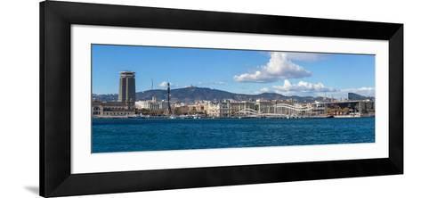 View of the Port of Barcelona, Barcelona, Catalonia, Spain--Framed Art Print
