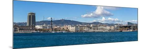 View of the Port of Barcelona, Barcelona, Catalonia, Spain--Mounted Photographic Print