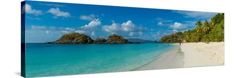 View of the Trunk Bay and Beach, St. John, Us Virgin Islands--Stretched Canvas Print