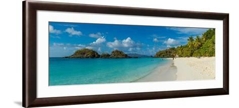 View of the Trunk Bay and Beach, St. John, Us Virgin Islands--Framed Art Print