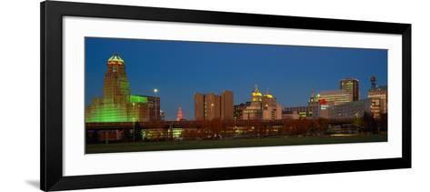Buffalo, Skyline at Dusk, New York--Framed Art Print