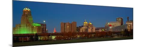 Buffalo, Skyline at Dusk, New York--Mounted Photographic Print