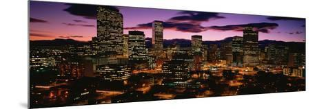 Denver, Colorado Skyline at Dusk--Mounted Photographic Print