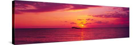 Sunset over The, Atlantic Ocean, Cat Island, Bahamas--Stretched Canvas Print