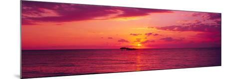 Sunset over The, Atlantic Ocean, Cat Island, Bahamas--Mounted Photographic Print