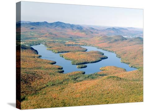 Lake Placid in Autumn, Adirondack, New York--Stretched Canvas Print