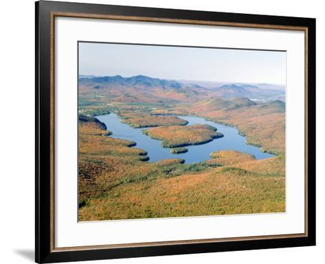 Lake Placid in Autumn, Adirondack, New York--Framed Art Print