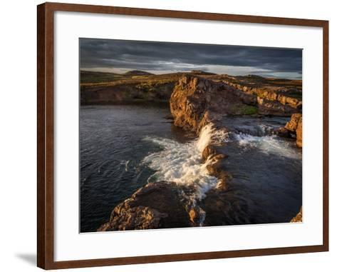 Grimsa River in Borgarfjordur, Iceland--Framed Art Print