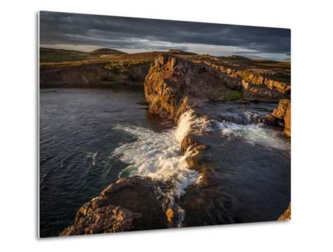 Grimsa River in Borgarfjordur, Iceland--Metal Print