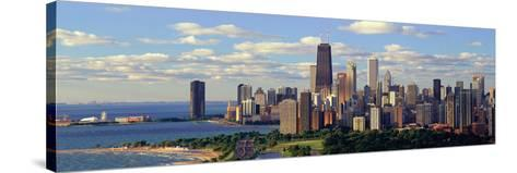 Panoramic View of Lake Michigan and Lincoln Park, Chicago, Il--Stretched Canvas Print