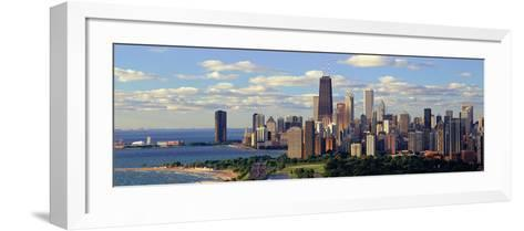 Panoramic View of Lake Michigan and Lincoln Park, Chicago, Il--Framed Art Print
