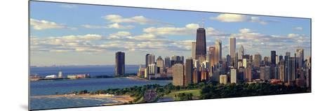 Panoramic View of Lake Michigan and Lincoln Park, Chicago, Il--Mounted Photographic Print
