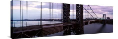 Panoramic View of George Washington Bridge over Hudson River from New York City, Ny--Stretched Canvas Print
