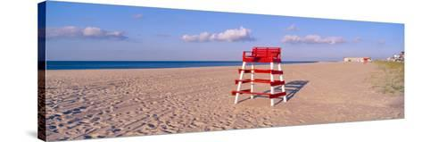Lifeguard Chair at the Beach in Morning, Cape May, New Jersey--Stretched Canvas Print