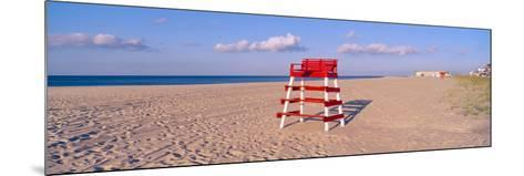 Lifeguard Chair at the Beach in Morning, Cape May, New Jersey--Mounted Photographic Print