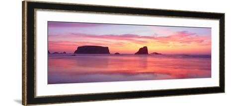 Bandon Beach at Sunset, Oregon--Framed Art Print