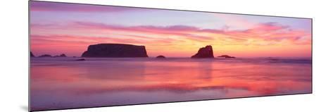 Bandon Beach at Sunset, Oregon--Mounted Photographic Print