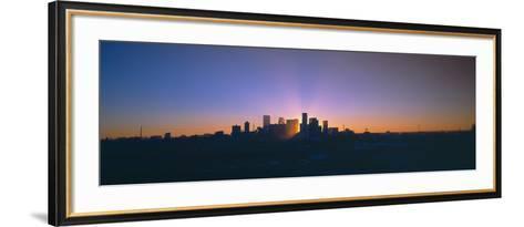 Skyline, Sunrise, Denver, Co--Framed Art Print