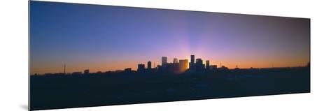 Skyline, Sunrise, Denver, Co--Mounted Photographic Print