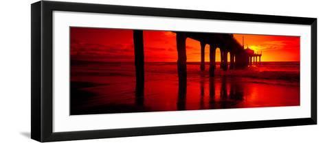 Pier in the Pacific Ocean--Framed Art Print