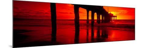 Pier in the Pacific Ocean--Mounted Photographic Print