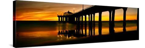 Pier in the Pacific Ocean--Stretched Canvas Print