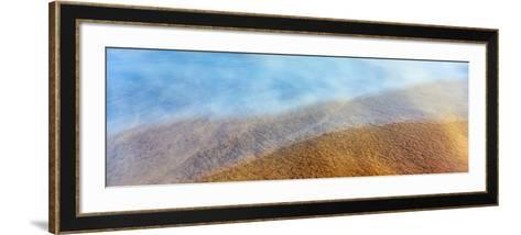 High Angle View of Waves on the Beach, Playas De Rosarito, Baja California Sur, Mexico--Framed Art Print