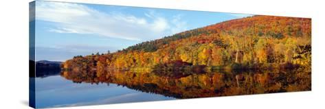 Autumn Colors Along Connecticut River, Brattleboro, Vermont--Stretched Canvas Print