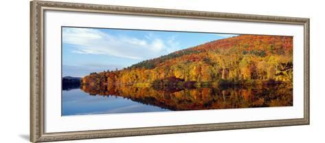 Autumn Colors Along Connecticut River, Brattleboro, Vermont--Framed Art Print