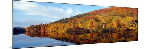 Autumn Colors Along Connecticut River, Brattleboro, Vermont--Mounted Photographic Print
