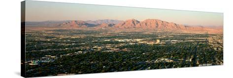 Panoramic View of Las Vegas Nevada Gambling City at Sunset--Stretched Canvas Print