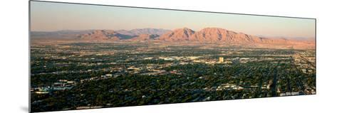 Panoramic View of Las Vegas Nevada Gambling City at Sunset--Mounted Photographic Print