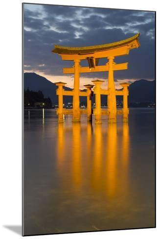 The Floating Miyajima Torii Gate of Itsukushima Shrine at Dusk-Stuart Black-Mounted Photographic Print