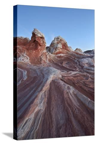 Red and White Sandstone Formations-James Hager-Stretched Canvas Print