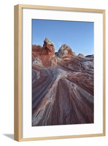Red and White Sandstone Formations-James Hager-Framed Art Print
