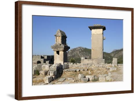 Harpy Monument and Lycian Tomb-Stuart Black-Framed Art Print