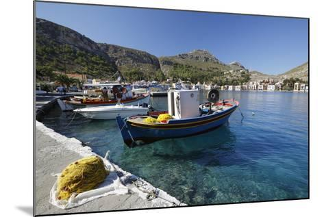 View of Harbour, Kastellorizo (Meis), Dodecanese, Greek Islands, Greece, Europe-Stuart Black-Mounted Photographic Print