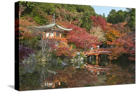 Japanese Temple Garden in Autumn, Daigoji Temple, Kyoto, Japan-Stuart Black-Stretched Canvas Print