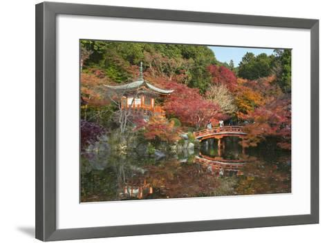 Japanese Temple Garden in Autumn, Daigoji Temple, Kyoto, Japan-Stuart Black-Framed Art Print