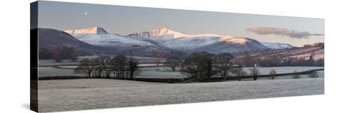 Snow Covered Pen Y Fan in Frost-Stuart Black-Stretched Canvas Print