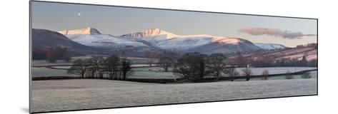 Snow Covered Pen Y Fan in Frost-Stuart Black-Mounted Photographic Print