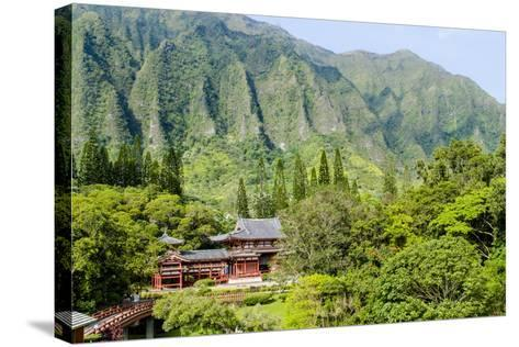 Byodo-In Temple, Valley of the Temples, Kaneohe, Oahu, Hawaii, United States of America, Pacific-Michael DeFreitas-Stretched Canvas Print