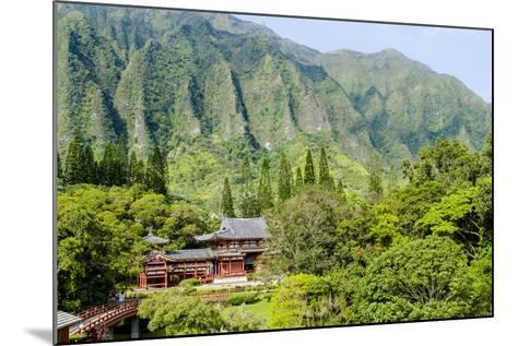 Byodo-In Temple, Valley of the Temples, Kaneohe, Oahu, Hawaii, United States of America, Pacific-Michael DeFreitas-Mounted Photographic Print