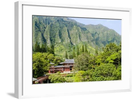 Byodo-In Temple, Valley of the Temples, Kaneohe, Oahu, Hawaii, United States of America, Pacific-Michael DeFreitas-Framed Art Print
