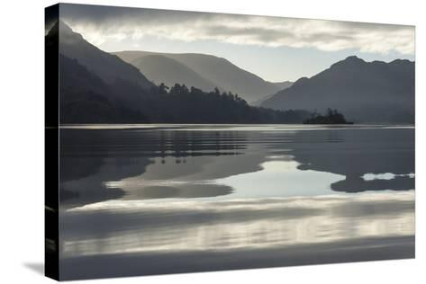 Ullswater, Little Island in November, Lake District National Park, Cumbria, England, UK-James Emmerson-Stretched Canvas Print
