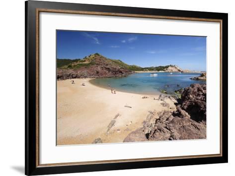 View over Cala Pregondo and Cala Pregonda-Stuart Black-Framed Art Print
