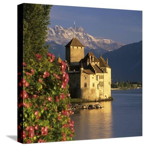 Chateau De Chillon (Chillon Castle) on Lake Geneva, Veytaux, Vaud Canton, Switzerland-Stuart Black-Stretched Canvas Print