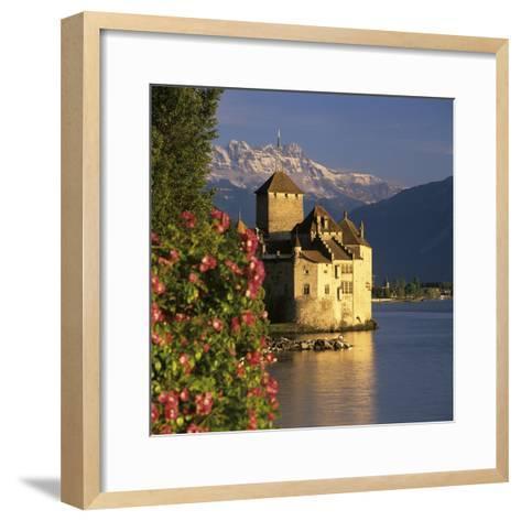 Chateau De Chillon (Chillon Castle) on Lake Geneva, Veytaux, Vaud Canton, Switzerland-Stuart Black-Framed Art Print
