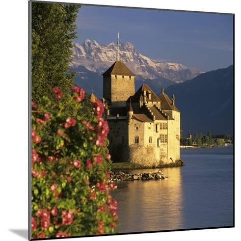 Chateau De Chillon (Chillon Castle) on Lake Geneva, Veytaux, Vaud Canton, Switzerland-Stuart Black-Mounted Photographic Print