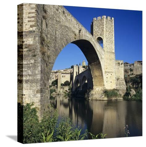 Medieval Bridge, Besalu, Catalunya (Costa Brava), Spain-Stuart Black-Stretched Canvas Print